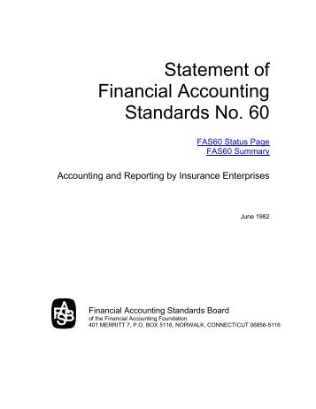 Statement of Financial Accounting Standards No. 60 - Paper Audit ...