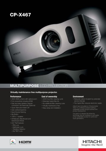 CP-X467 - LCD and DLP Projectors