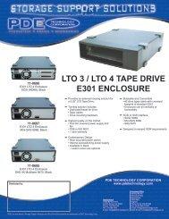 LTO 3 / LTO 4 TAPE DRIVE E301 ENCLOSURE - Storesys