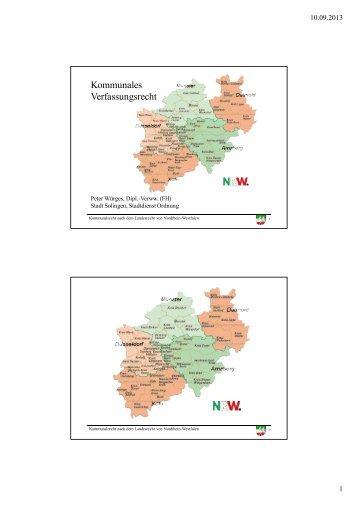 Kommunales Verfassungsrecht