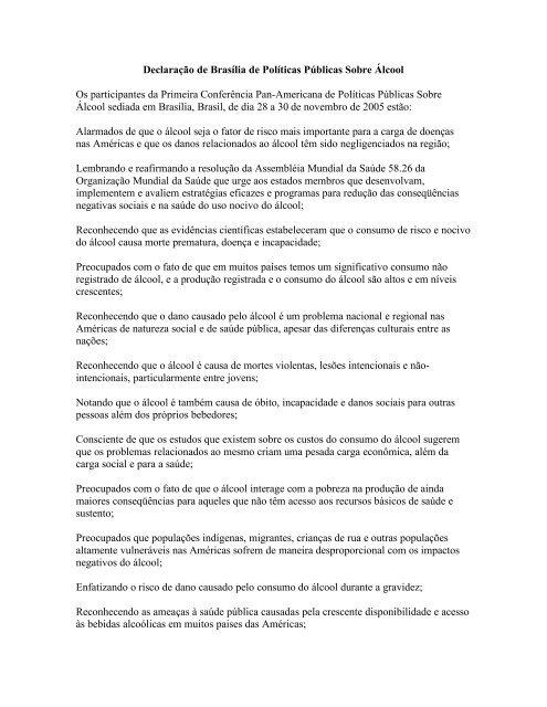 Declaração de Brasília de Políticas Públicas ... - Criança Segura