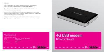 4G USB modem - návod - T-Mobile