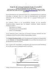 Skript für die Vorlesung Technische Chemie I (Version2011)
