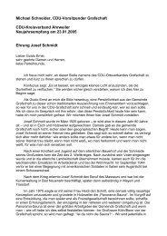 Der Text der Rede zu Josef Schmidt hier - CDU Ortsverband ...