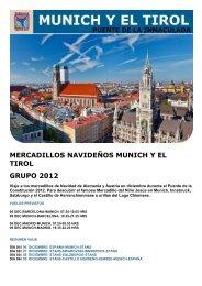 mercadillos navideños munich y el tirol grupo 2012 - Viajes Tarannà