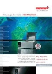 Baños de Agua/Baños de Aceite WNB/WNE/WPE/ONE - Mercantil ...