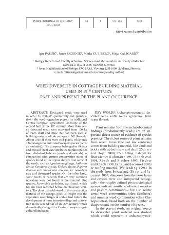 journal articles through ecology
