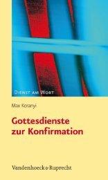 Leseprobe downloaden (PDF) - Vandenhoeck & Ruprecht