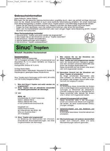 Sinuc® Tropfen - Apotheke im Lyzeum eK