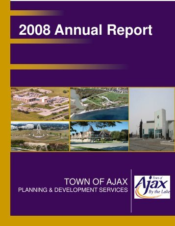 2008 Annual Report - Town of Ajax