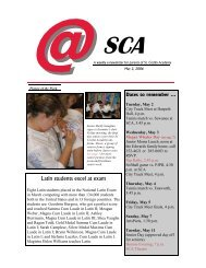 at SCA5-2 - St. Cecilia Academy