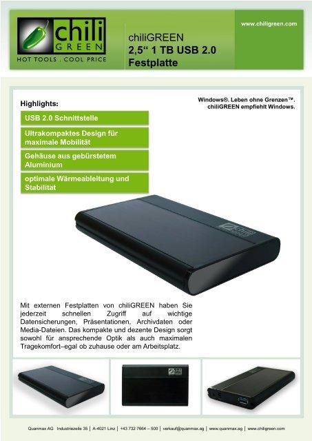2,5'' 1 TB USB 2.0 Festplatte - INTERSPAR
