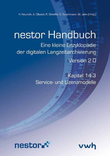 Kapitel 14.3 Service- und Lizenzmodelle - nestor