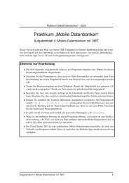 "Praktikum "" Mobile Datenbanken"""