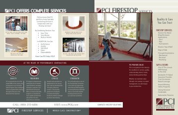 OFFERS COMPLETE SERVICES - Performance Contracting Inc.