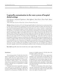 Legionella contamination in the water system of hospital dental ...