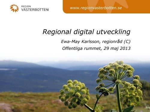 Regional digital utveckling - Offentliga rummet
