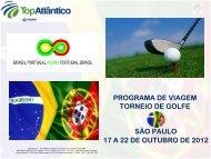 programa de viagem torneio de golfe são paulo 17 a 22 de outubro ...