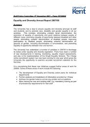 Equality and Diversity Annual Report 2007/08 - University of Kent