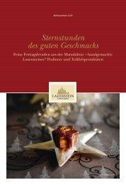 KATALOG Lauenstein Schokoladen, Pralinen und Adventskalender