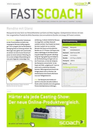 Rendite mit Glanz - Scoach Europa AG