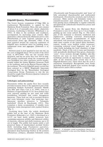 Mercian 2002 v15 p175 Edgehill Quarry Marlstone Rock, Radley.pdf ...