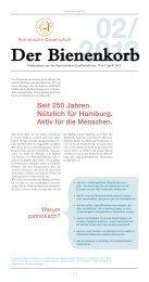 Seit 250 Jahren. Nützlich für Hamburg. Aktiv für die Menschen.