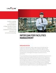 INFOR EAM FOR FACILITIES MANAGEMENT - NFMT