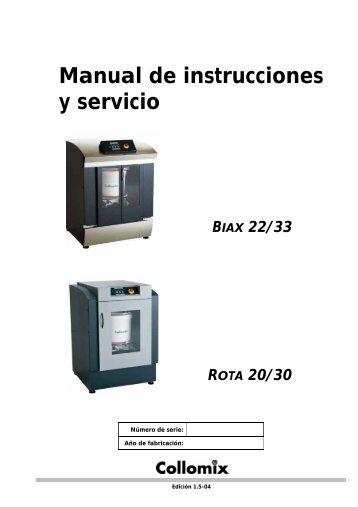 Manual de instrucciones y servicio BIAX 22/33 ROTA 20/30 - Collomix