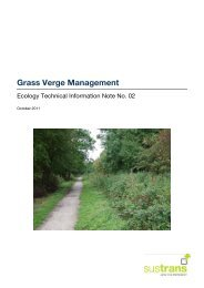 Ecology Note 02: Grass Verge Management - Sustrans