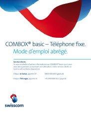 COMBOX® basic – Téléphone fixe. Mode d'emploi ... - Swisscom