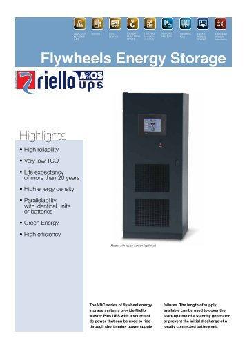 Flywheels Energy Storage - Riello UPS