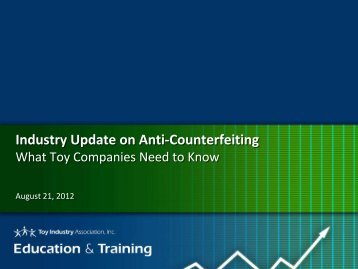 Webinar Presentation File - Toy Industry Association