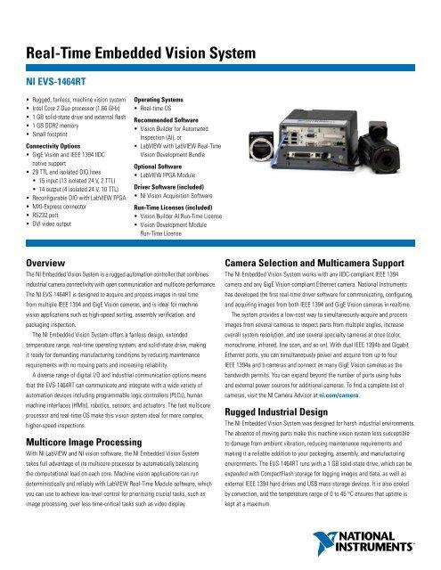 Real-Time Embedded Vision System - Graftek Imaging Inc
