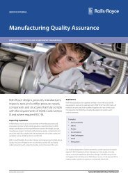 Manufacturing Quality Assurance - Rolls-Royce
