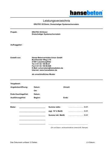Leistungsverzeichnis Inthermo Wdvs Massiv