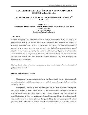"""Citeste articolul - Universitatea de Vest """"Vasile Goldis"""" din Arad"""