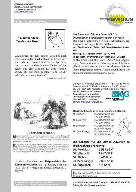5 Pfarreien 1 Deckblatt St Remigius Opladen