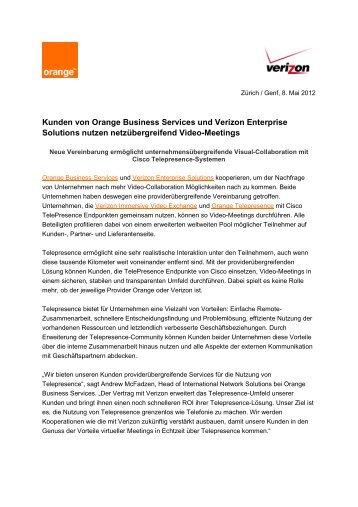 Kunden von Orange Business Services und Verizon Enterprise ...