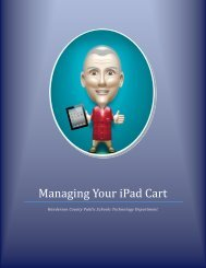 Managing Your iPad Cart - Henderson County Public Schools