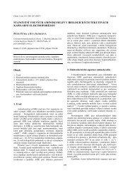 stanovenè volnðch aminokyselin v biologickðch ... - Chemické listy