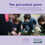 The pre-school years - Oxfordshire County Council