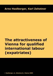 The attractiveness of Vienna for qualified international labour
