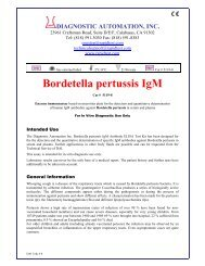 Bordetella pertussis IgM - ELISA kits - Rapid tests
