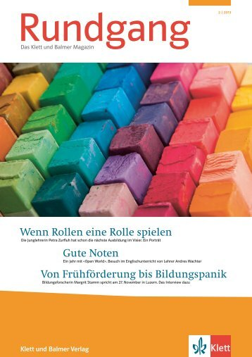 Rundgang 3/2013 - Klett und Balmer Verlag