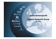 Unternehmensprofil Vaillant Hepworth Group