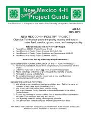 new mexico 4-h poultry project - New Mexico State University