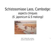 Schistosomiase au Laos, Cambodge : aspects cliniques