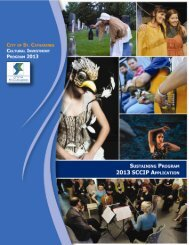 sustaining program - City of St. Catharines