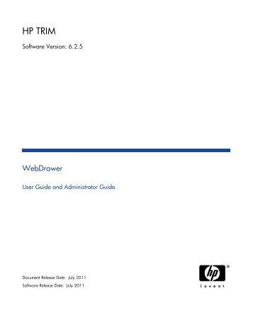 HP TRIM WebDrawer - TRIM User Network